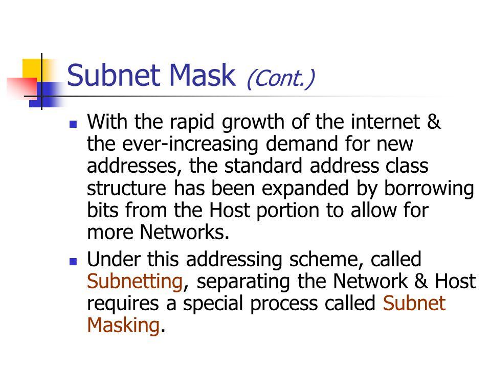 Subnet Mask (Cont.)