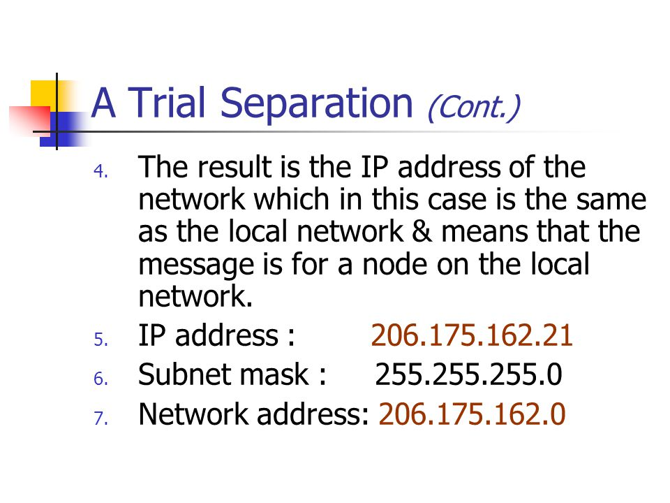 A Trial Separation (Cont.)