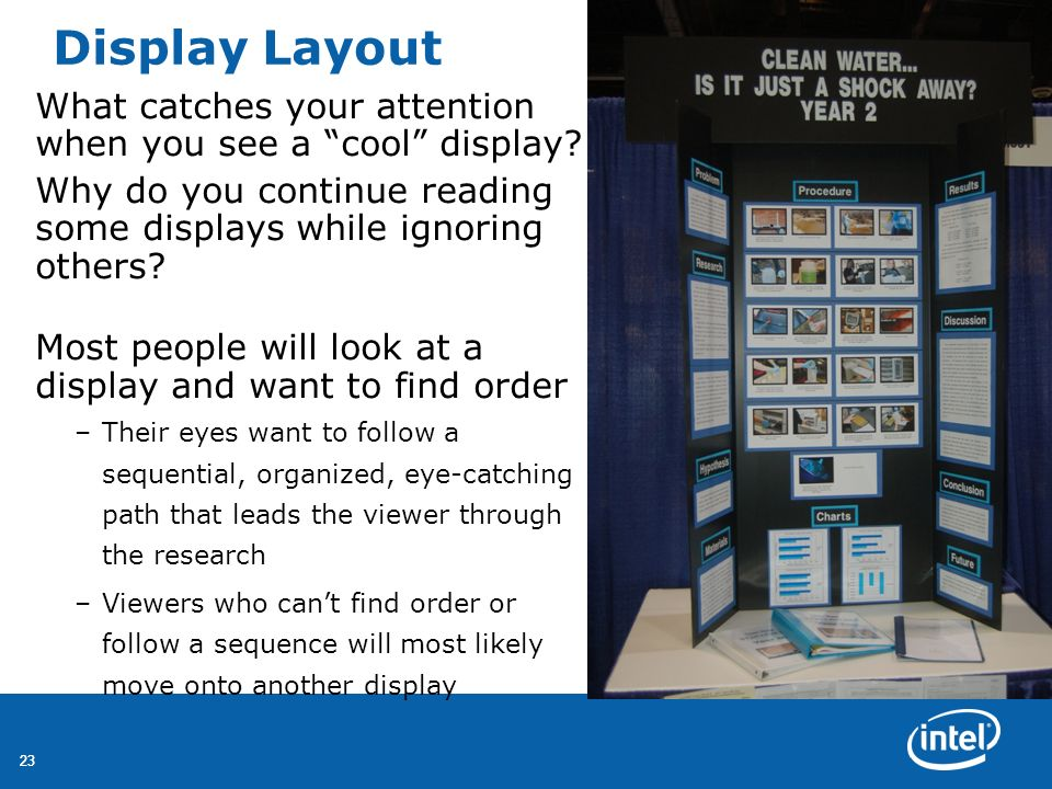 Display Layout What catches your attention when you see a cool display Why do you continue reading some displays while ignoring others