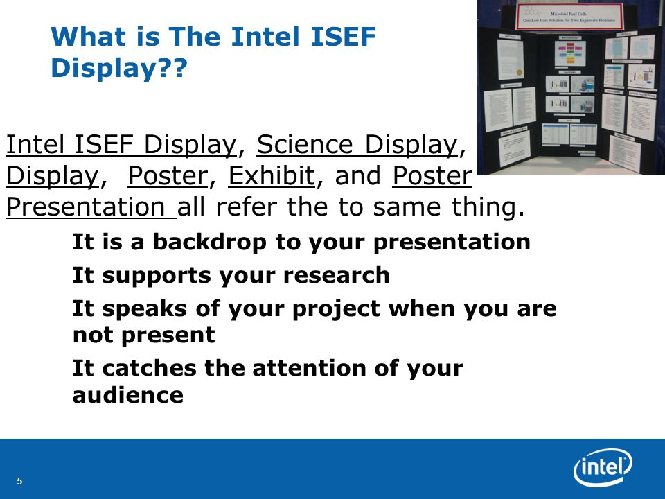 What is The Intel ISEF Display