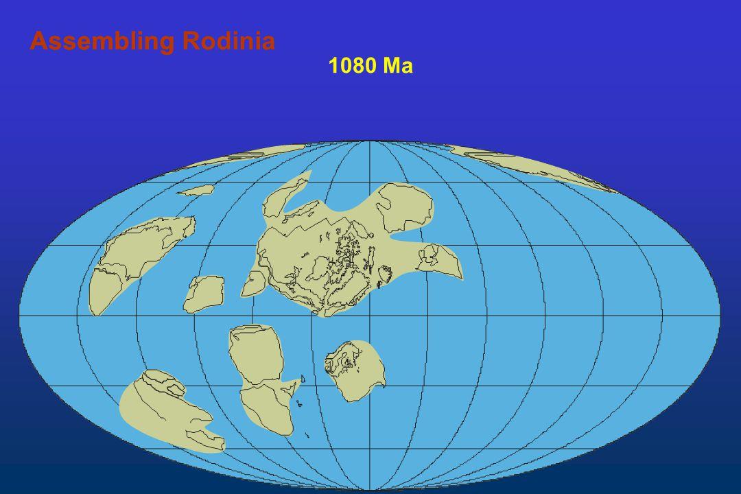 Assembling Rodinia Assembling 1080 Ma