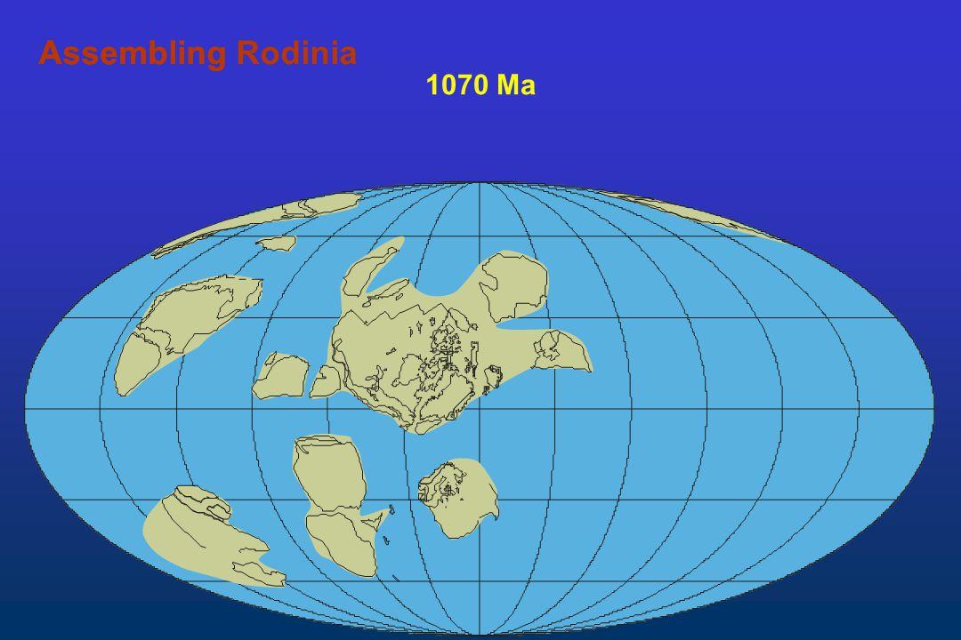 Assembling Rodinia Assembling 1070 Ma
