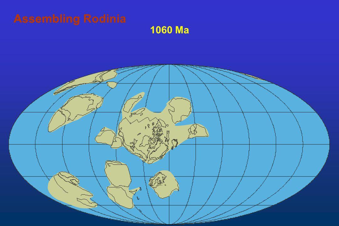 Assembling Rodinia Assembling 1060 Ma