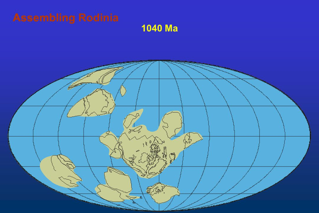 Assembling Rodinia Assembling 1040 Ma