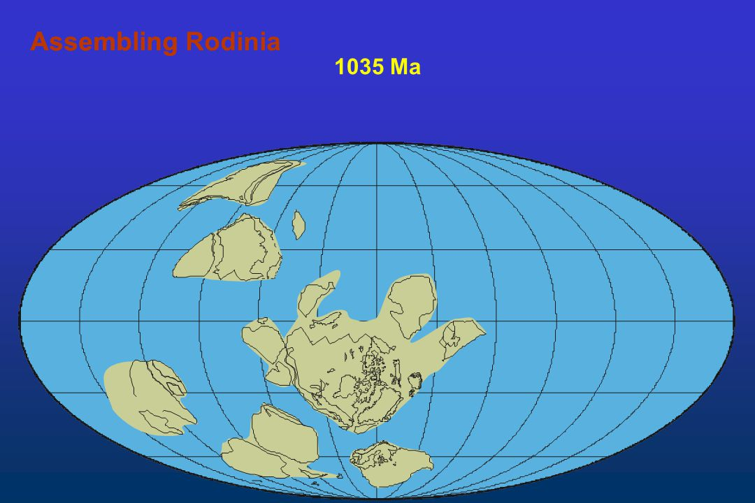 Assembling Rodinia Assembling 1035 Ma