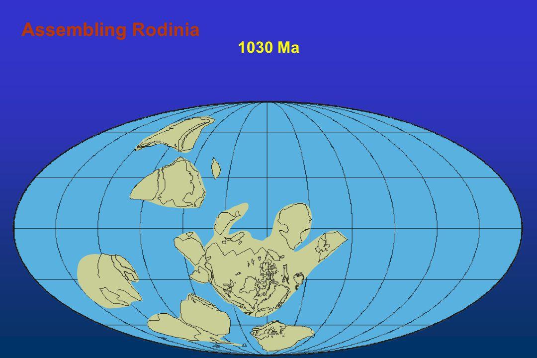 Assembling Rodinia Assembling 1030 Ma