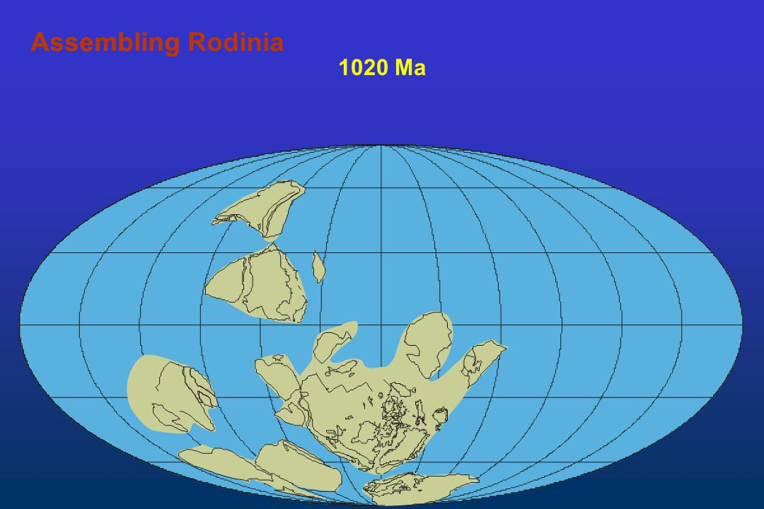 Assembling Rodinia Assembling 1020 Ma