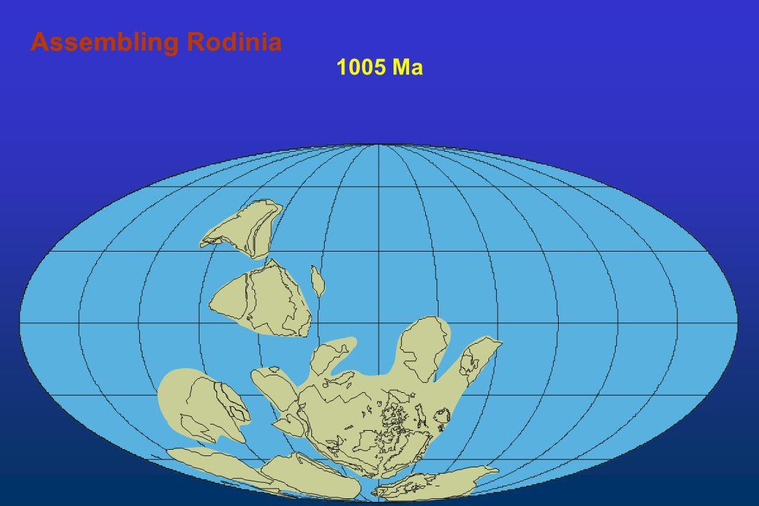 Assembling Rodinia Assembling 1005 Ma