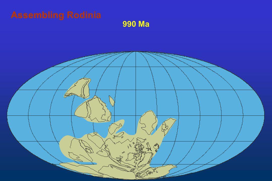 Assembling Rodinia Assembling 990 Ma