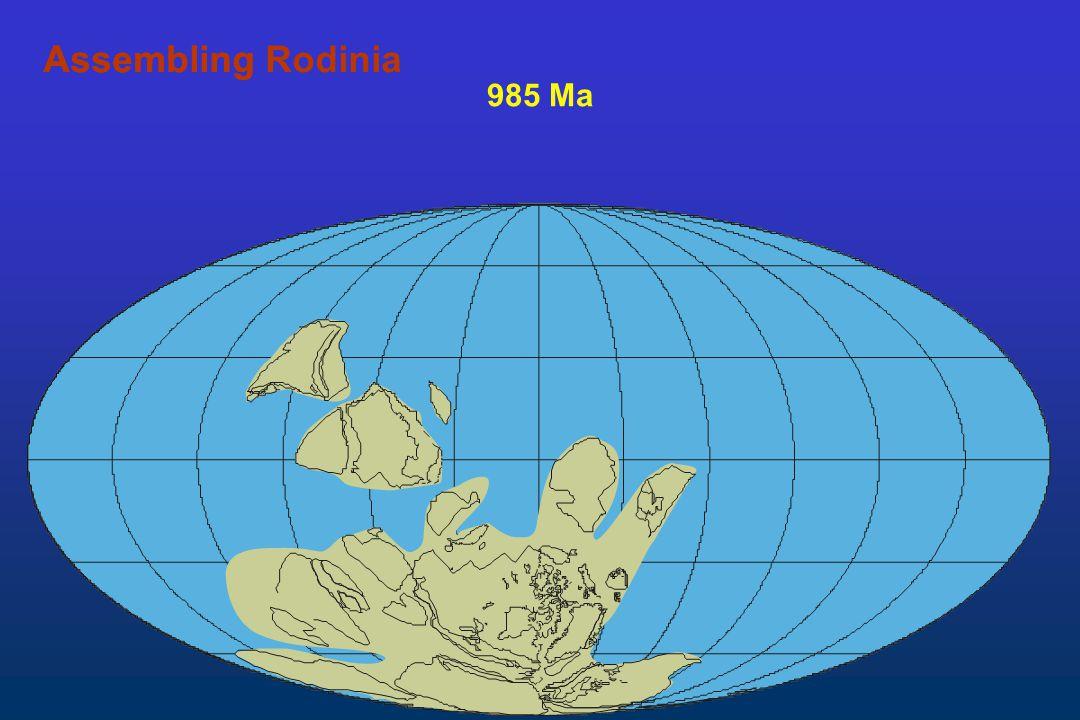 Assembling Rodinia Assembling 985 Ma