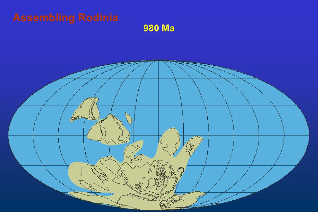 Assembling Rodinia Assembling 980 Ma