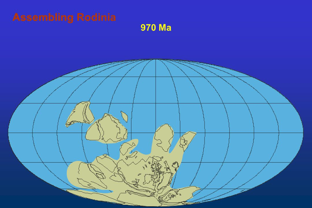 Assembling Rodinia Assembling 970 Ma