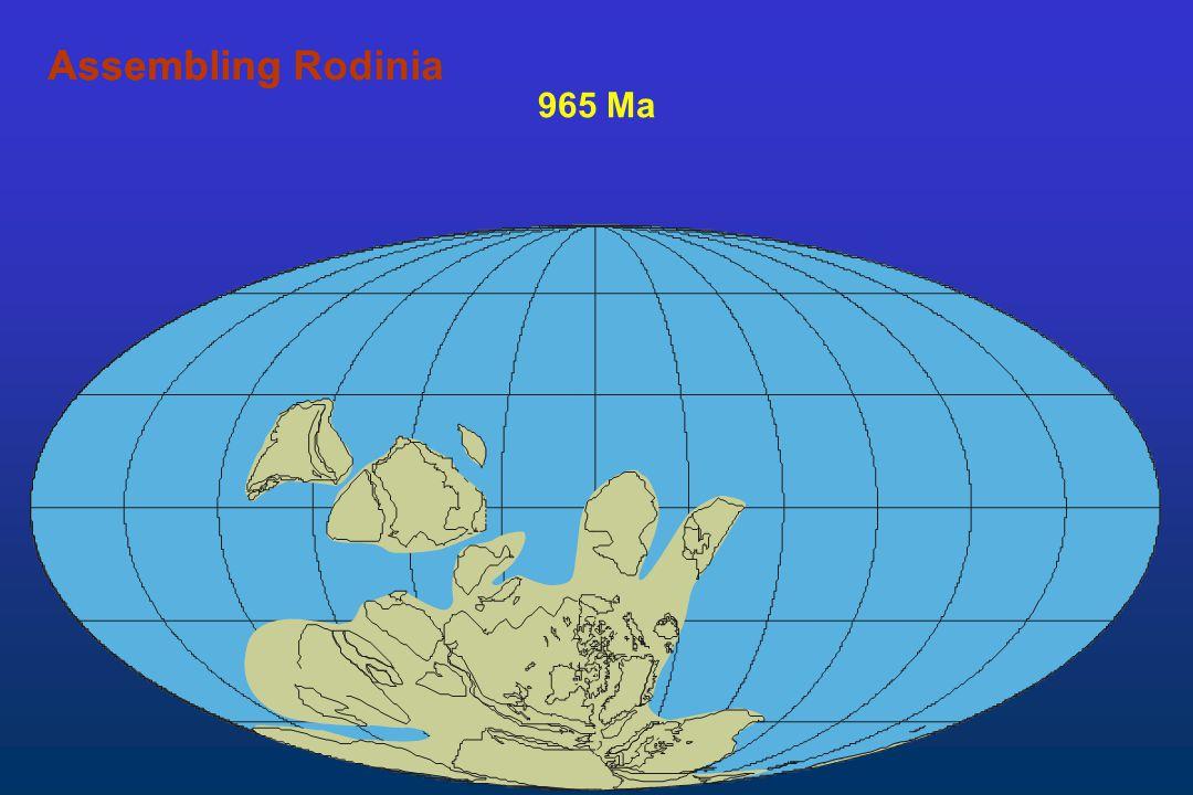 Assembling Rodinia Assembling 965 Ma