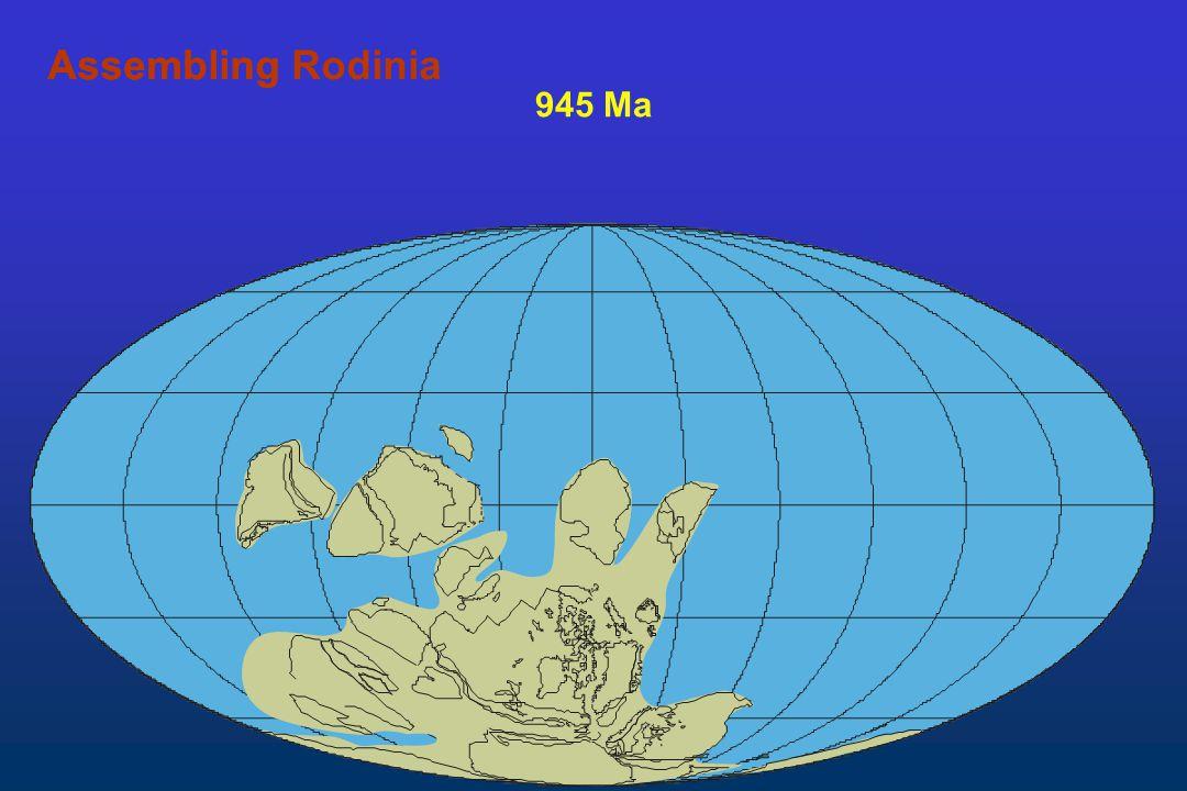 Assembling Rodinia Assembling 945 Ma