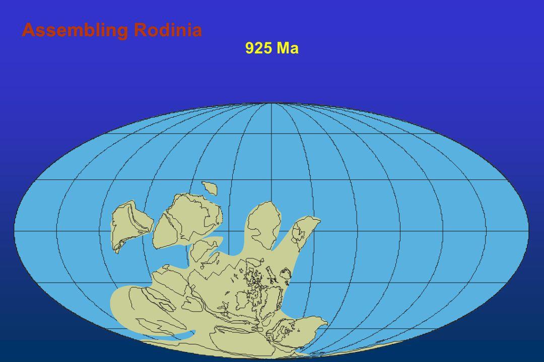 Assembling Rodinia Assembling 925 Ma
