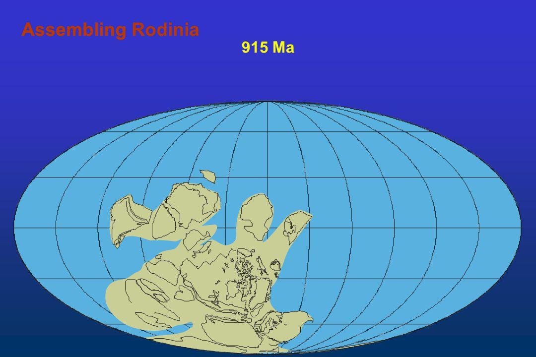 Assembling Rodinia Assembling 915 Ma
