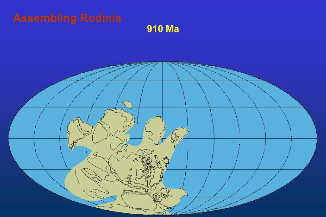 Assembling Rodinia Assembling 910 Ma