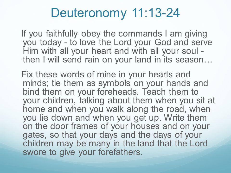 Deuteronomy 11:13-24
