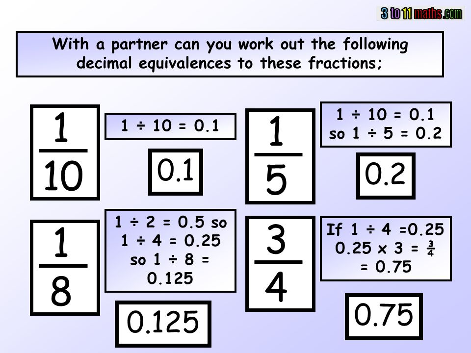 Changing Fractions into Decimals - ppt download