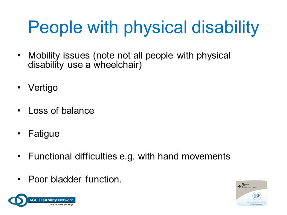People with physical disability