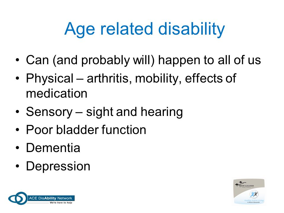 Age related disability