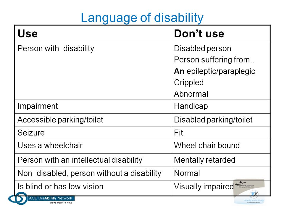 Language of disability
