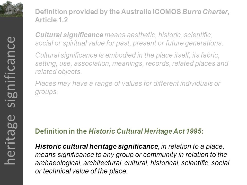 heritage significance