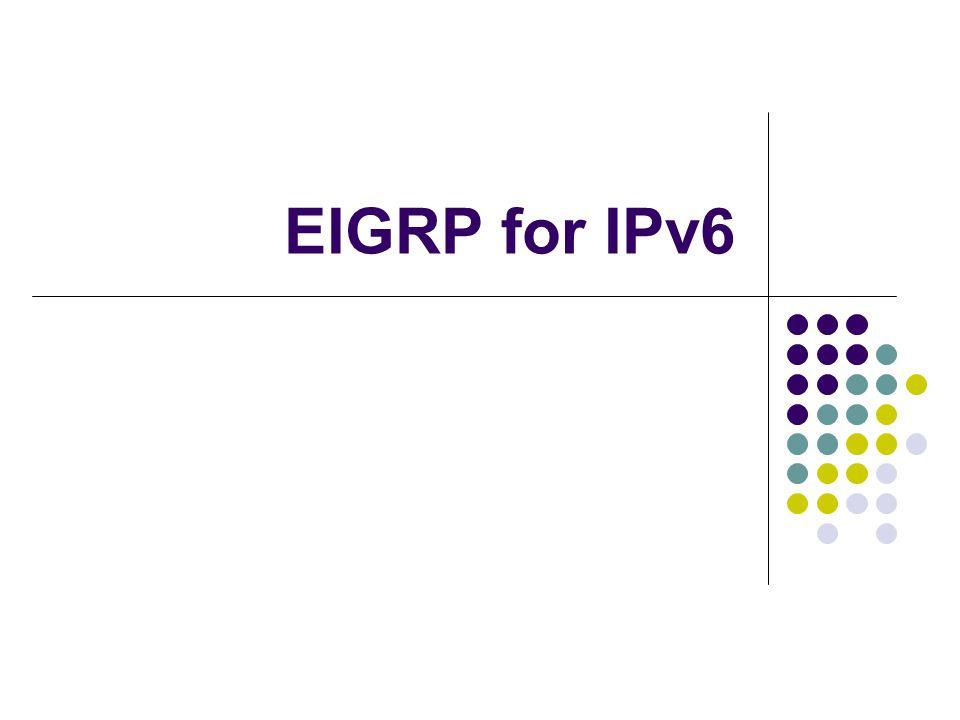 EIGRP for IPv6