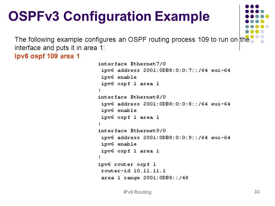 OSPFv3 Configuration Example