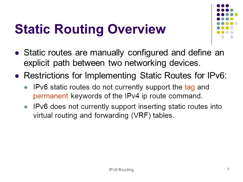 Static Routing Overview