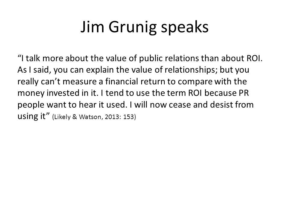 Jim Grunig speaks