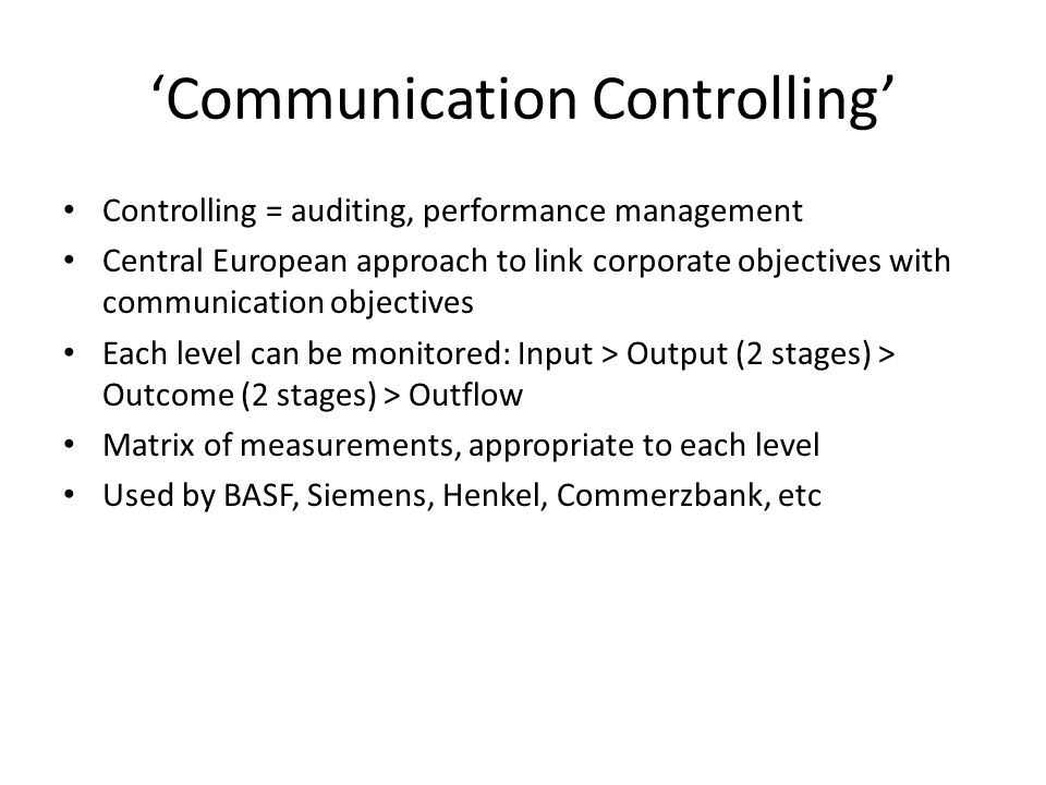 'Communication Controlling'