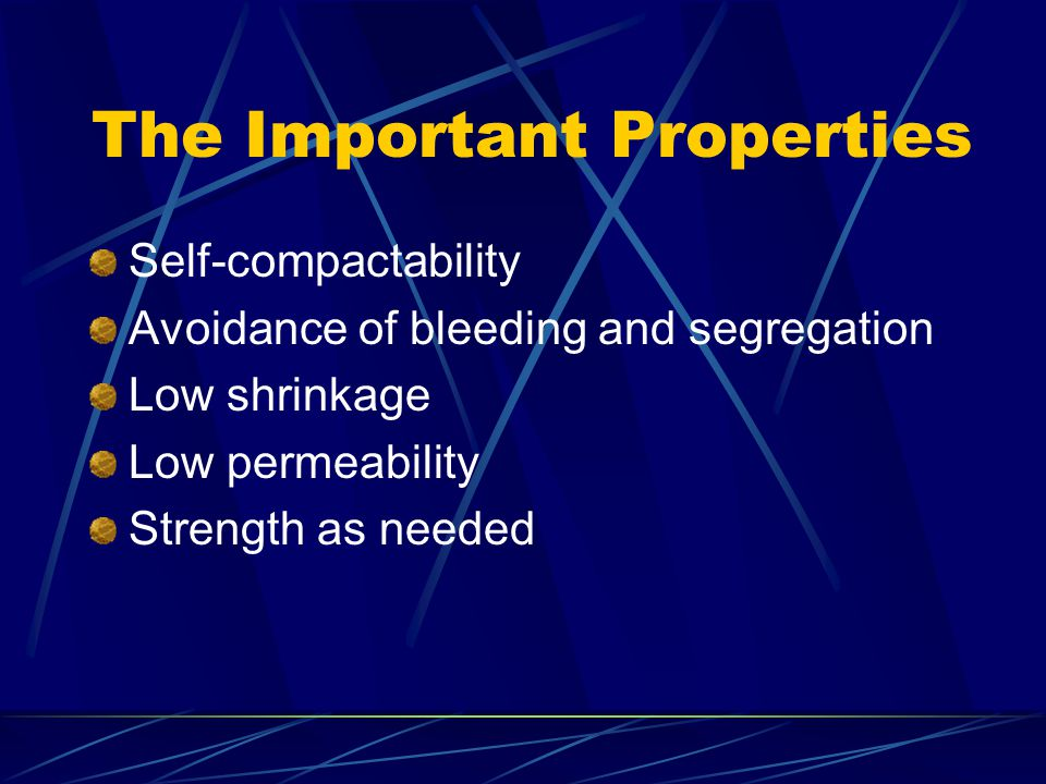 The Important Properties
