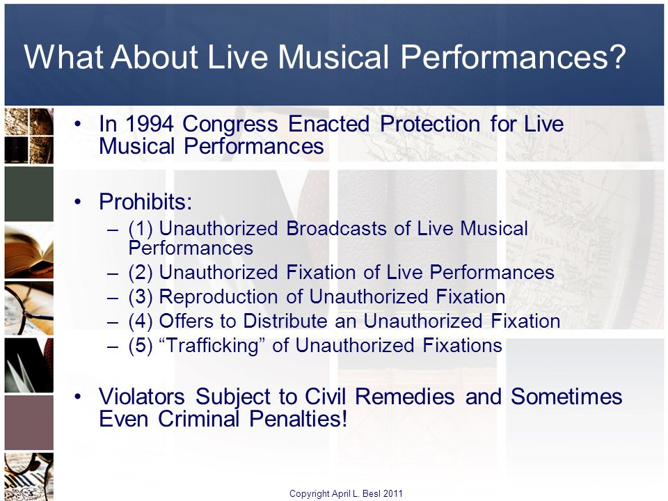 What About Live Musical Performances