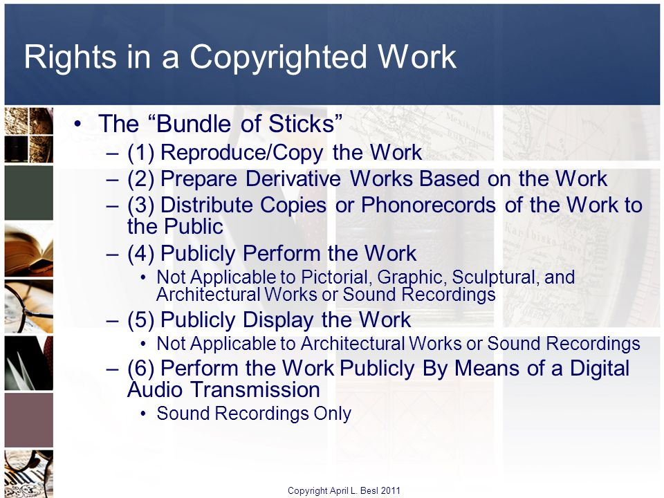 Rights in a Copyrighted Work