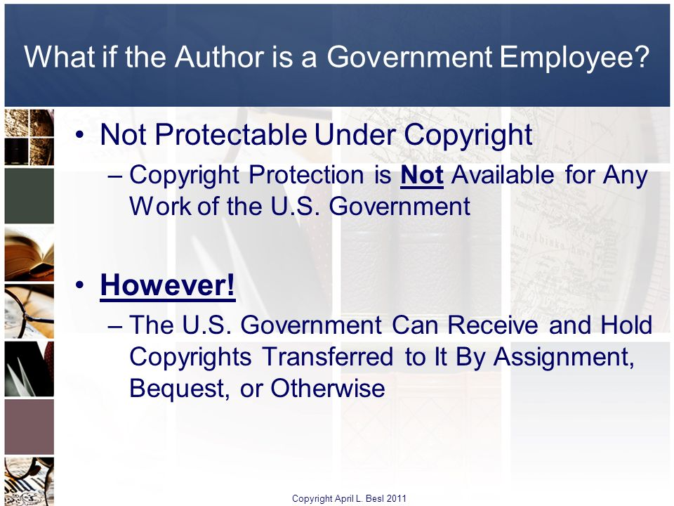 What if the Author is a Government Employee