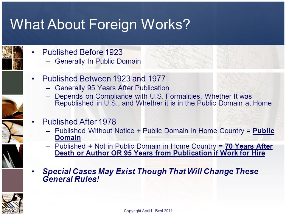 What About Foreign Works