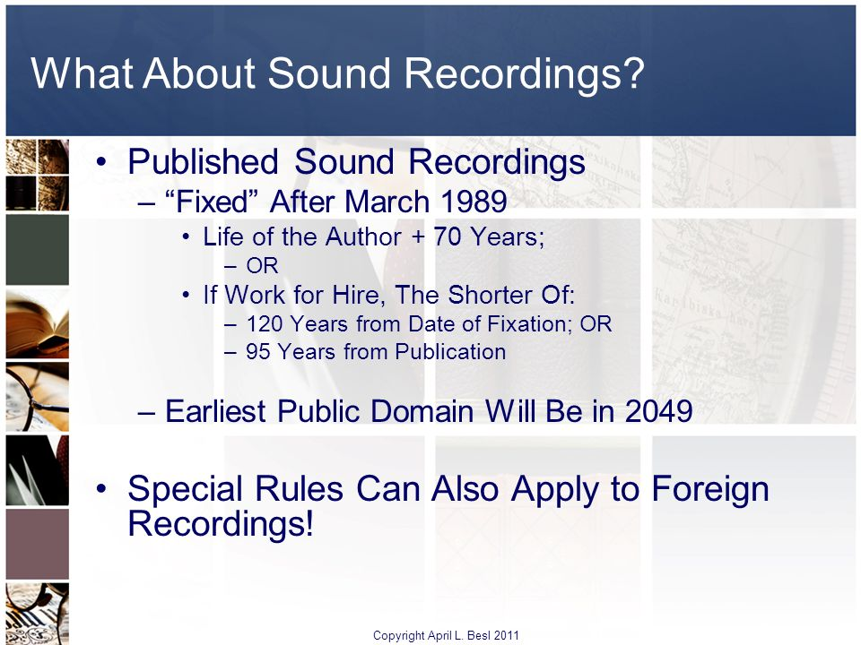 What About Sound Recordings