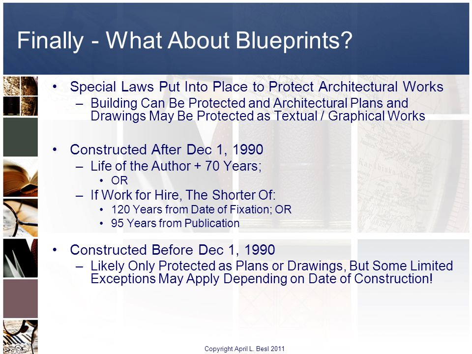 Finally - What About Blueprints