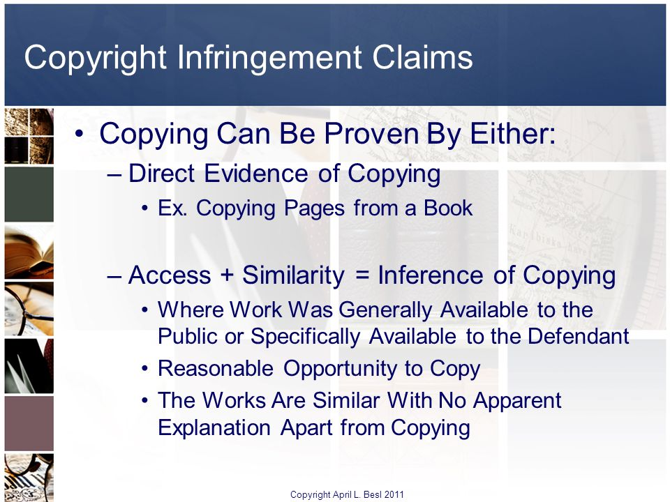 Copyright Infringement Claims