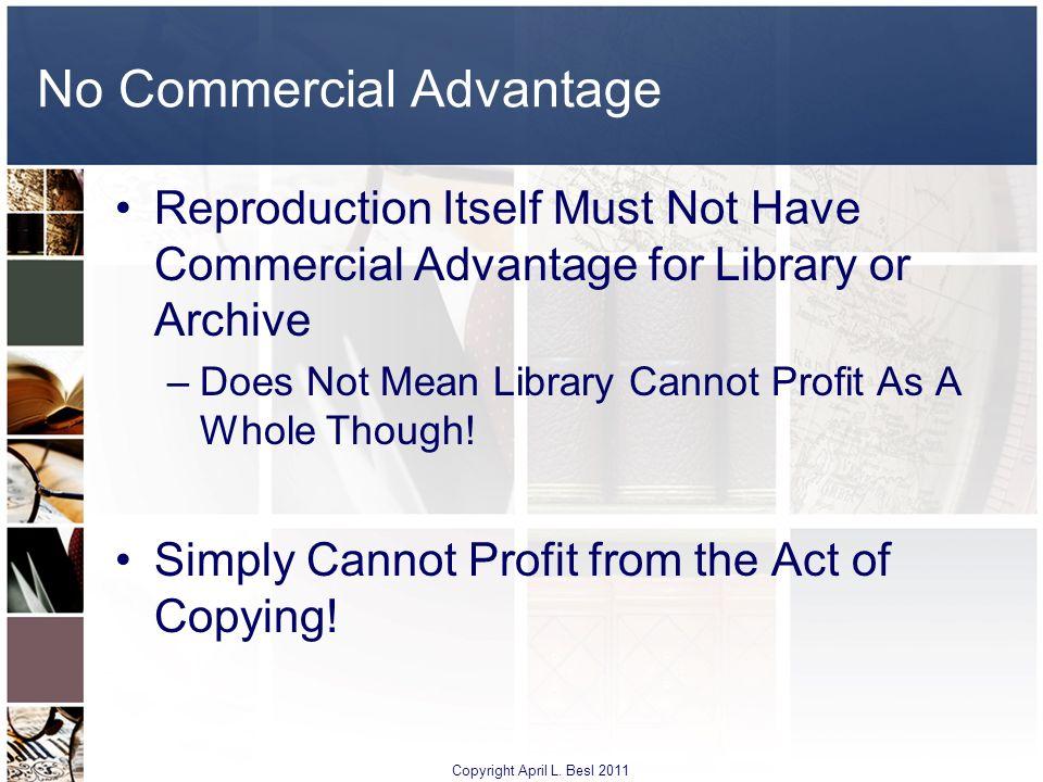 No Commercial Advantage