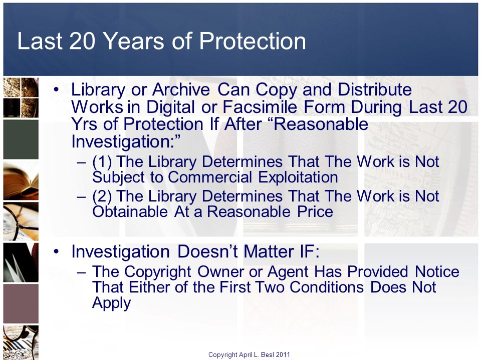 Last 20 Years of Protection