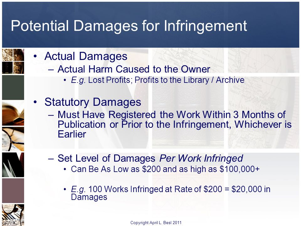Potential Damages for Infringement
