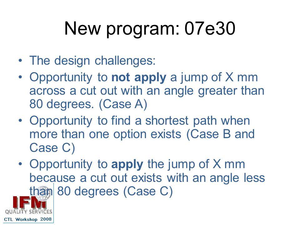 New program: 07e30 The design challenges: