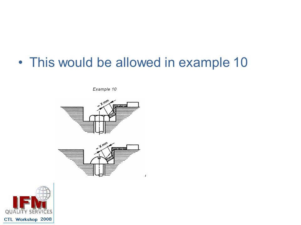 This would be allowed in example 10
