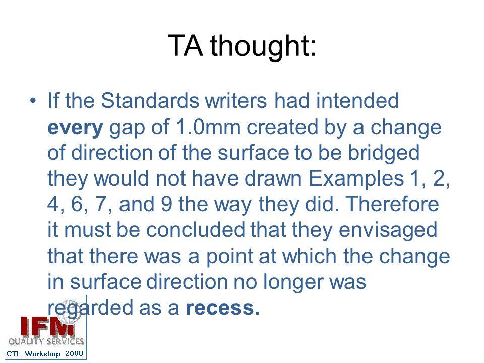 TA thought: