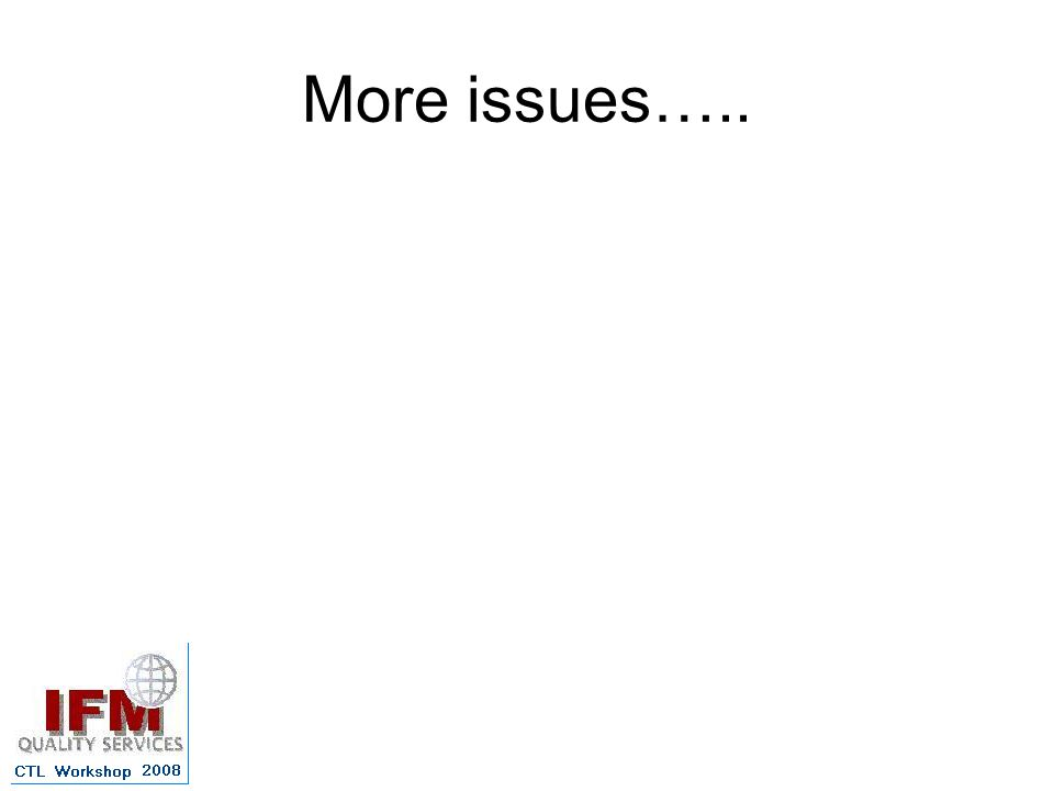 More issues…..