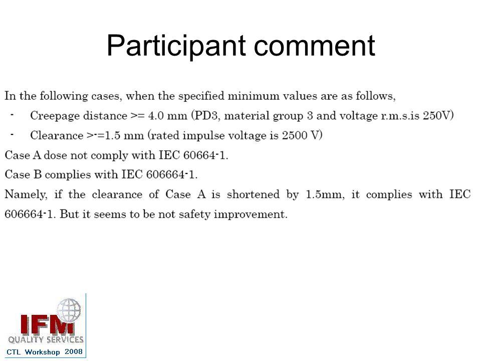 Participant comment