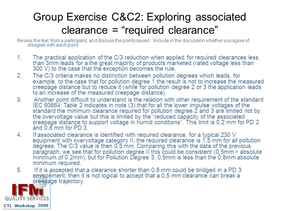 Group Exercise C&C2: Exploring associated clearance = required clearance