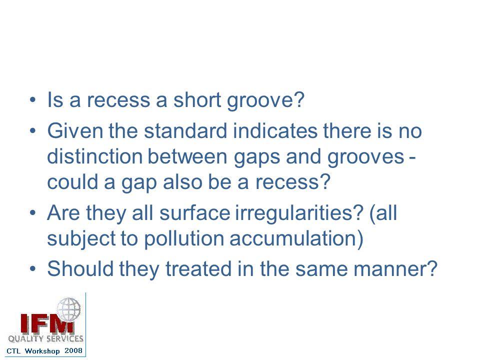 Is a recess a short groove